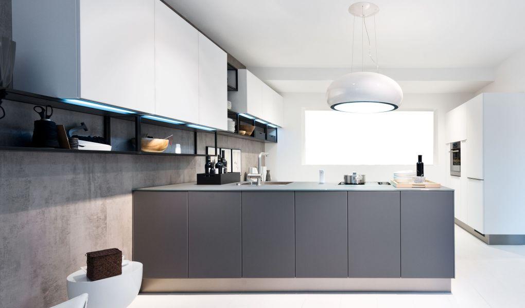 Die Küchenfront GLAS TEC SATIN von Nolte Küchen